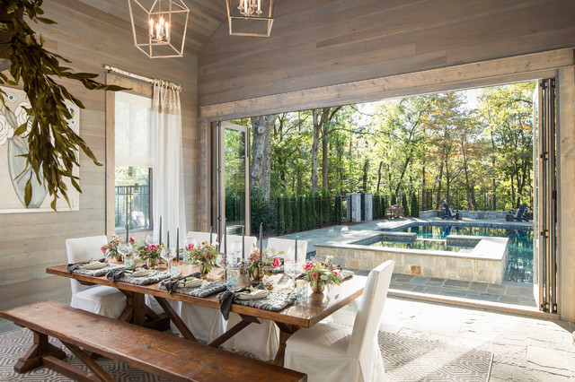 Dining Room With A Nature View