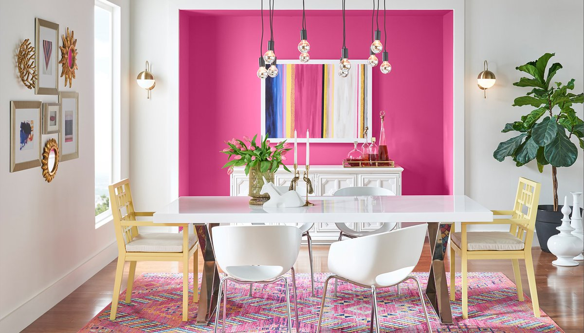 Pink Interior Dining Room Ideas
