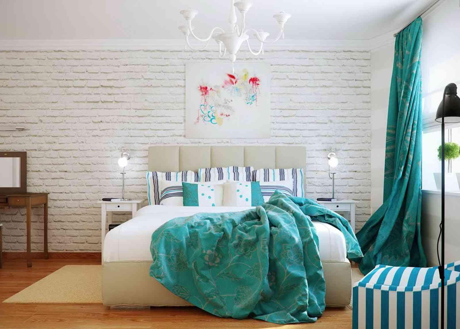 Turquois Bedroom Interior Design