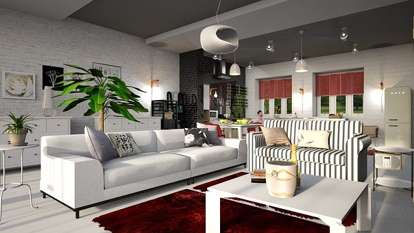 Artificial Flowers Decoration In Living Room