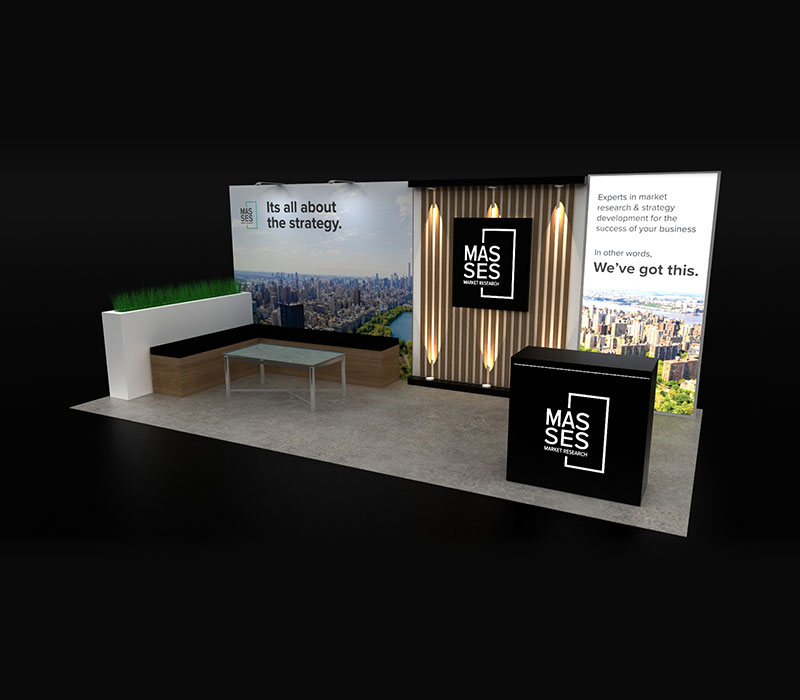 Masses Custom Trade Show Display