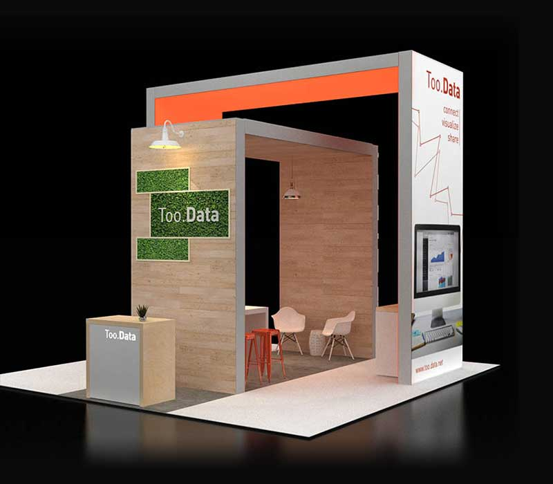 Too.Data Custom Trade Show Display
