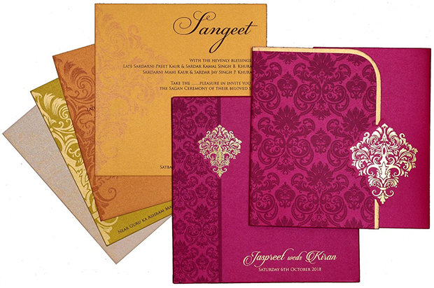 Wedding Invitation Card Color Selection