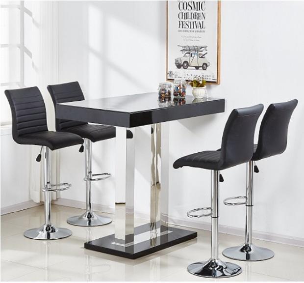 Caprice Glass Bar Table Set