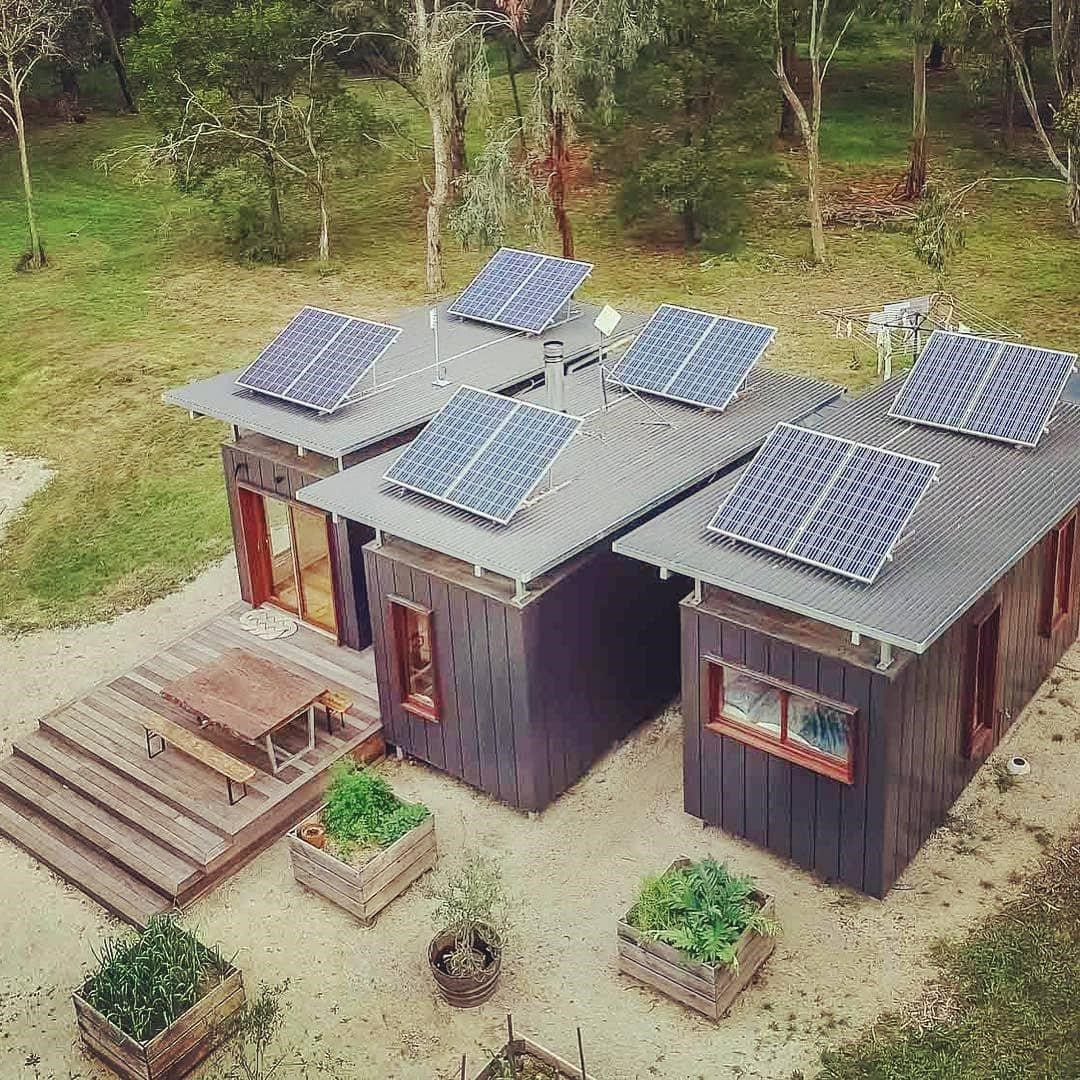 Shipping Container Home Complete With Solar Panels