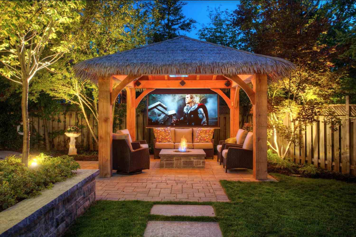 A Charming Backyard Gazebo