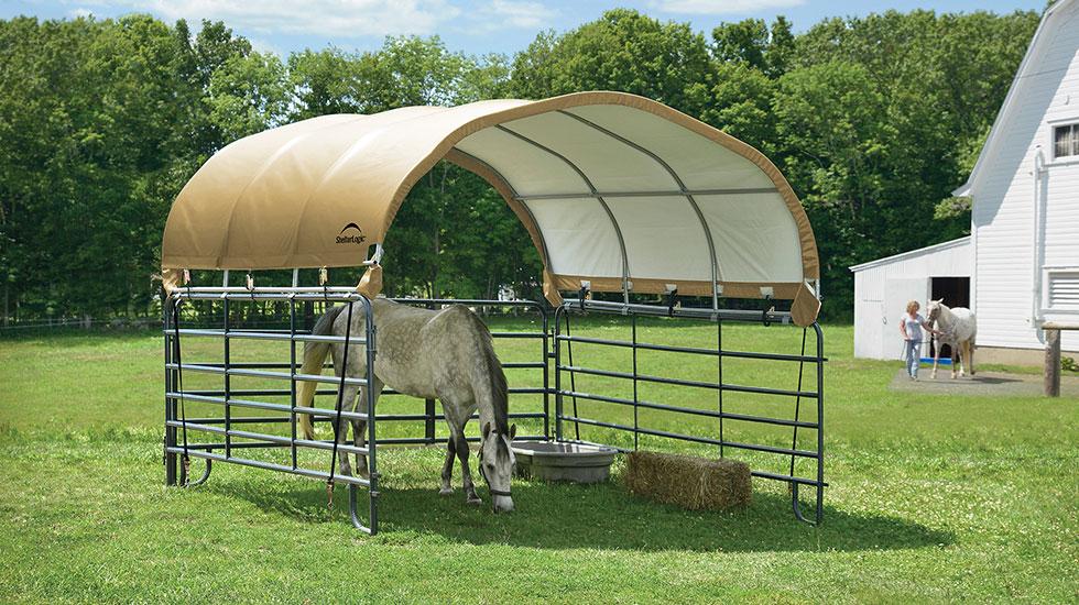 Horse Tarp Shelter
