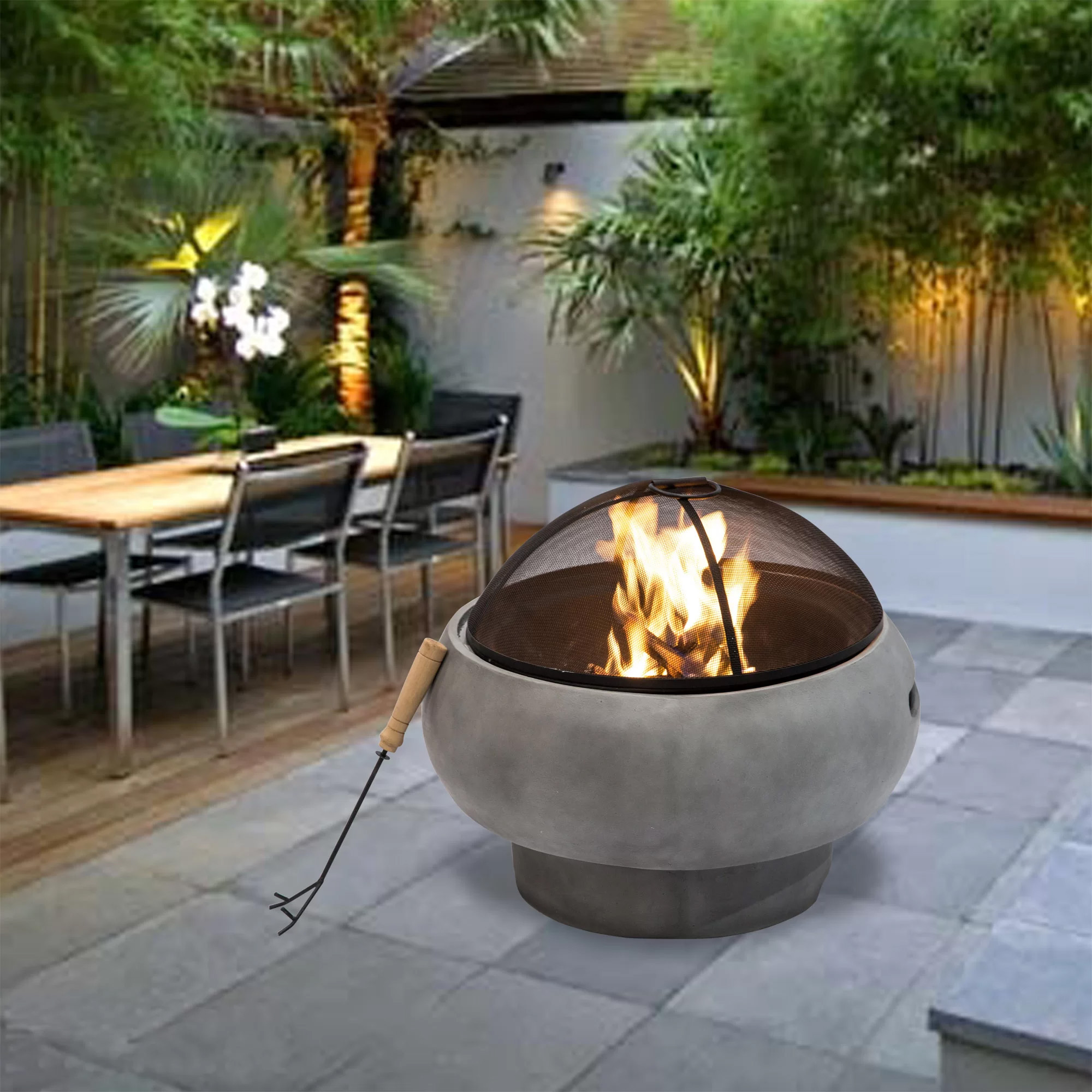 A Fire Pit For Cozy Conversation