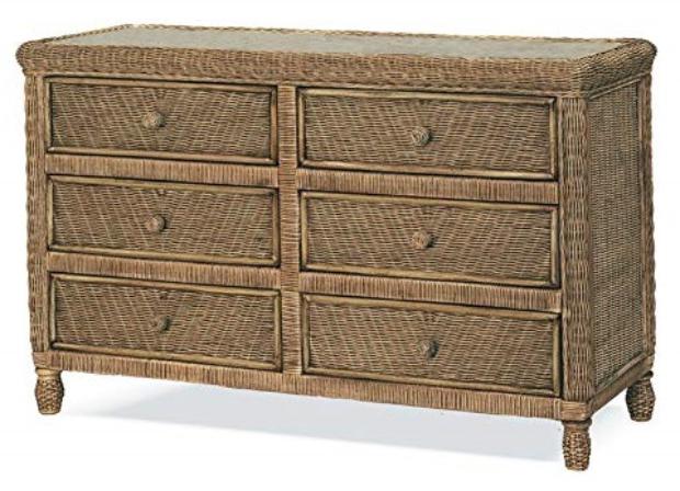 Stix N Things Santa Cruz 6 Drawer Wicker Dresser