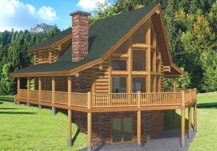 Energy Efficient Log Cabin Home