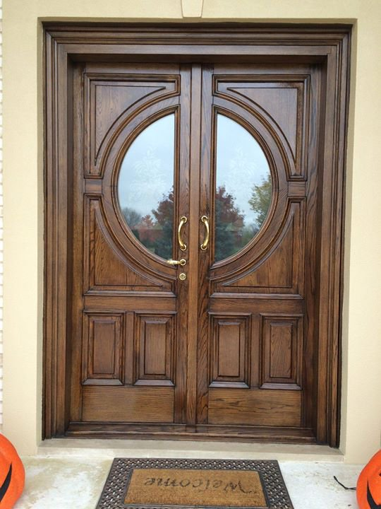 Great Looking Finished Coat On Wooden Door