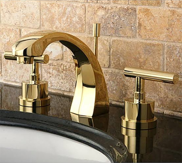 Polished Brass Faucet