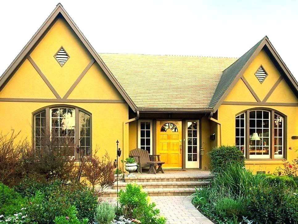 Yellow Exterior House Paint Color
