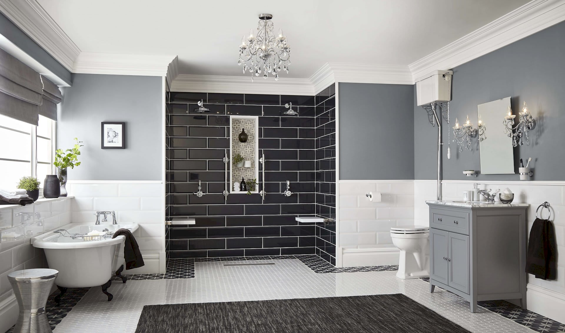 Black And White Concept Bathroom