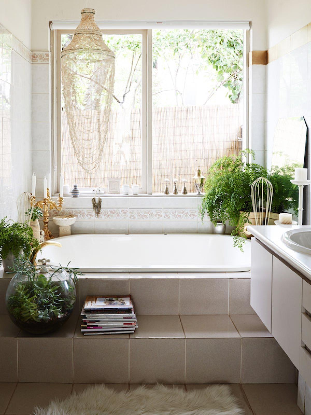 Boho Style Bathroom Mirror