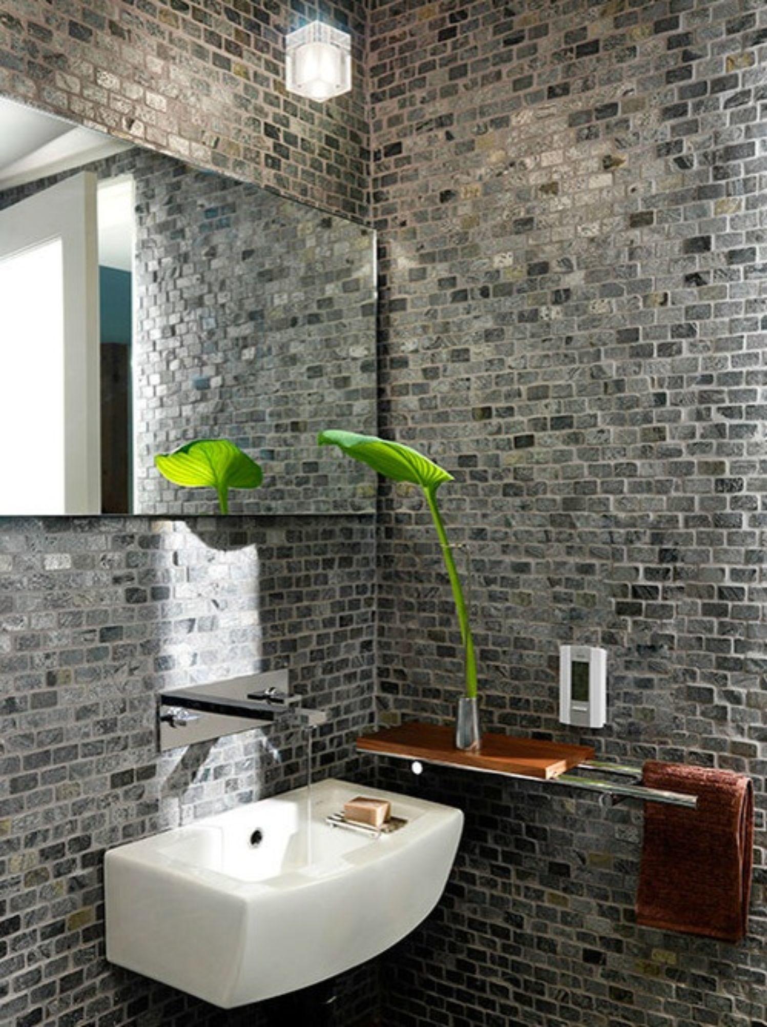 Brick Wall Bathroom Design