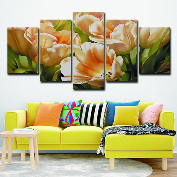 Floral Artwork To Decorate Living Room