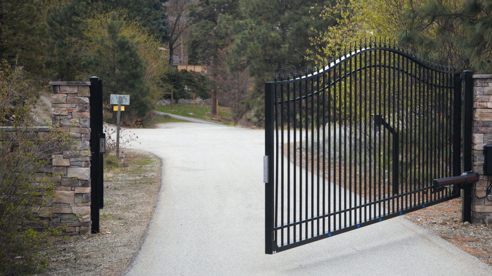 Motorized Steel Swing Gate