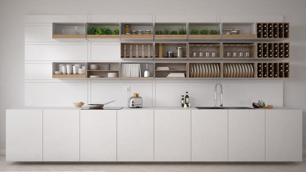 Open Kitchen Cabinet Decoration