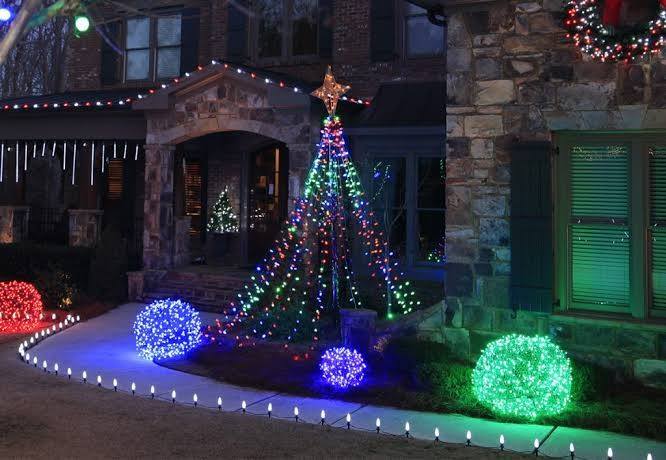 Homemade Outdoor Christmas Trees
