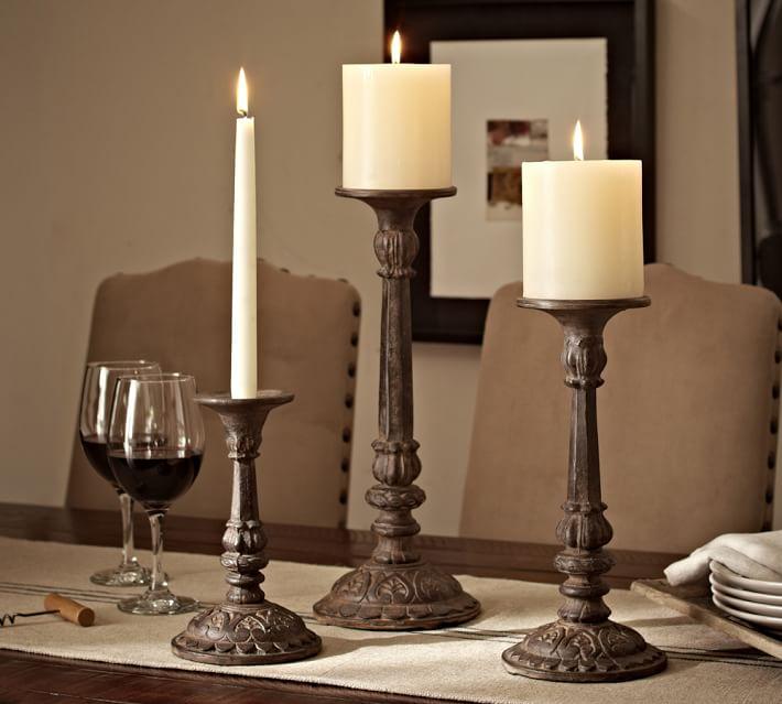 Cast Bronze Candleholder