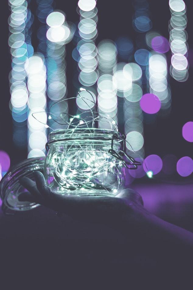 Fairy Lights And Mason Jar