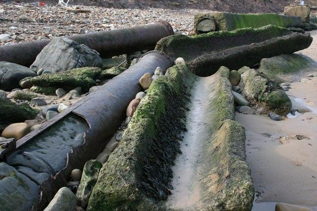 Broken Victorian Sewage Pipe