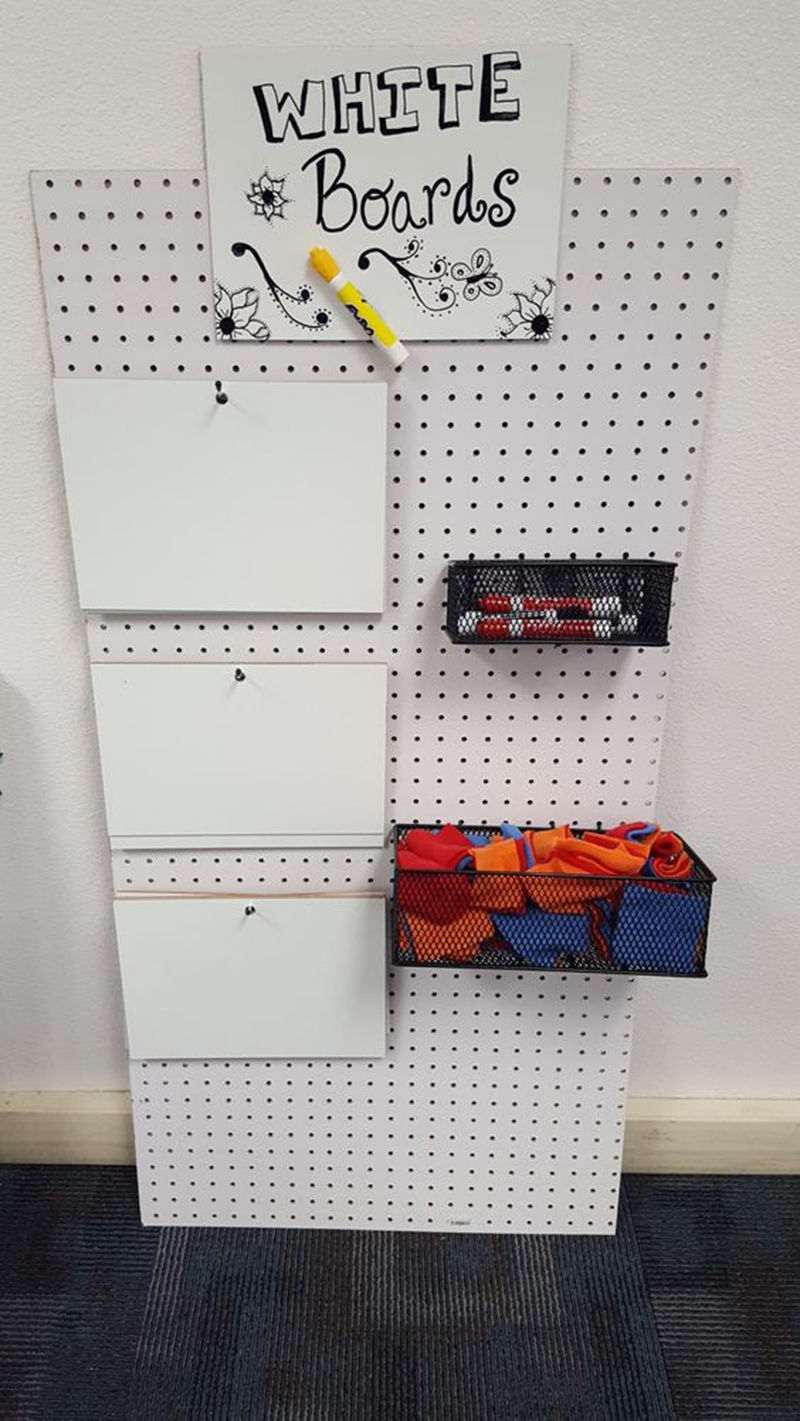 Hanging Supply Holders Rack
