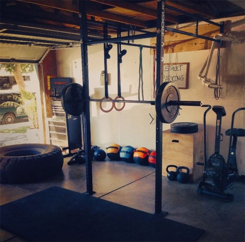 Converted Garage Gym