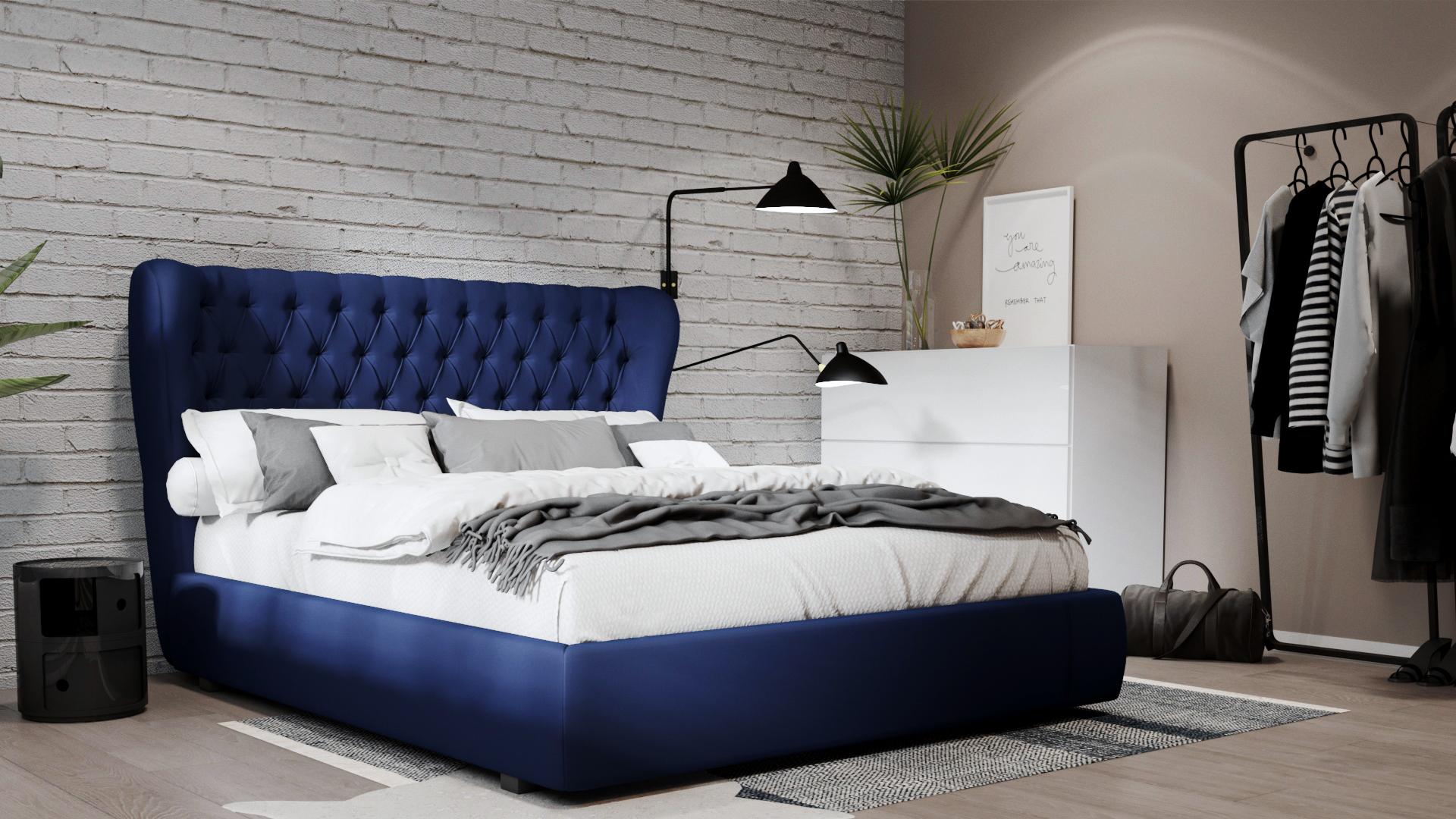 Double Beds In Trendy Bedroom