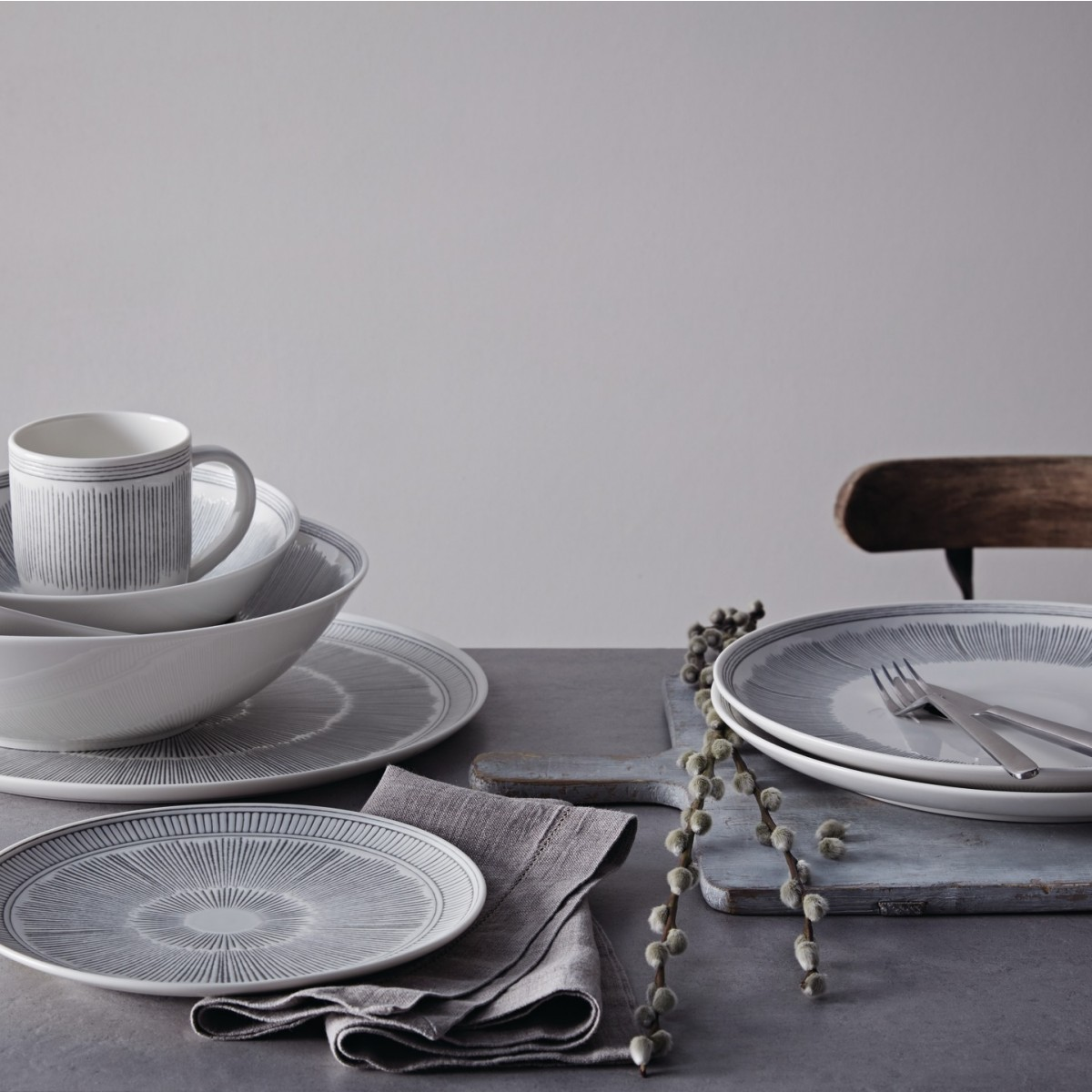Royal Doulton Grey Lines Serviesset