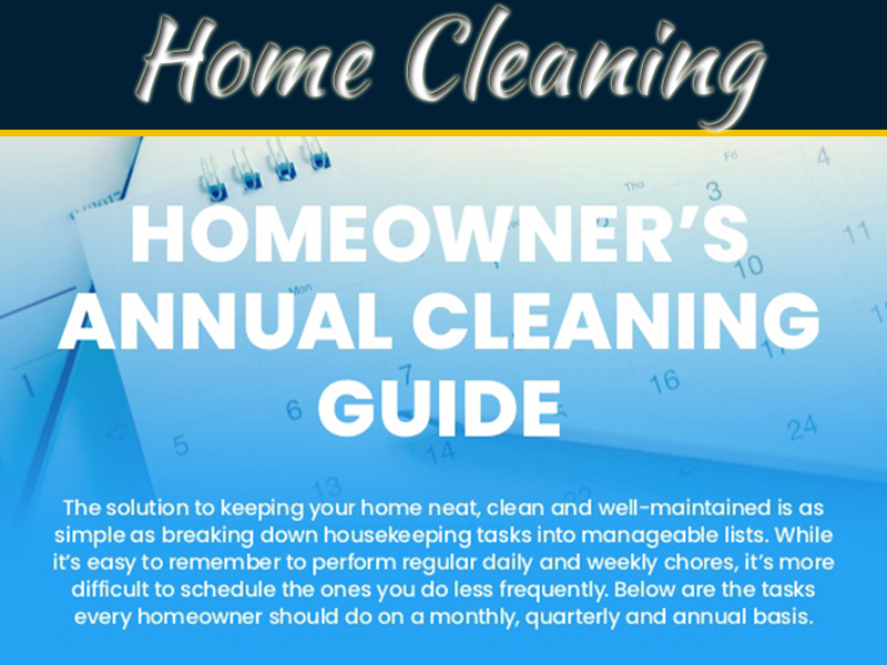 Homeowner's Annual Cleaning Guide