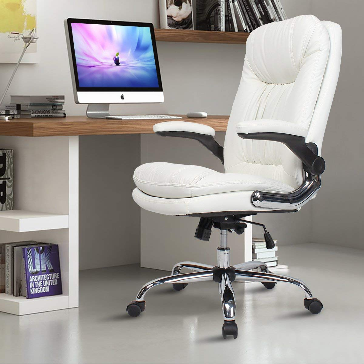 White Ergonomic Executive Office Chair