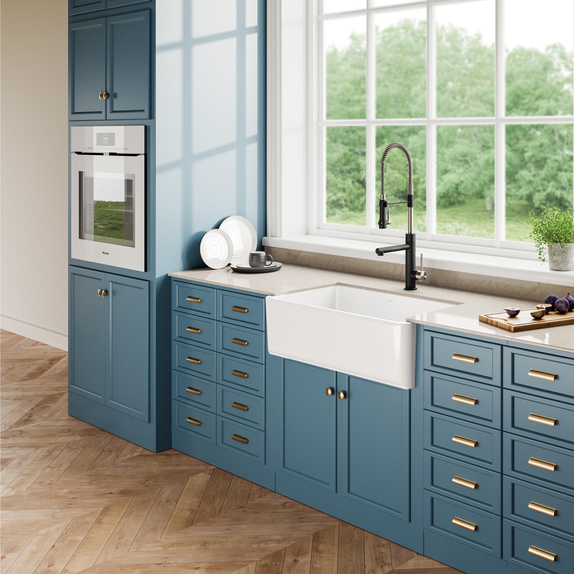 Apron Fireclay White Kitchen Sink