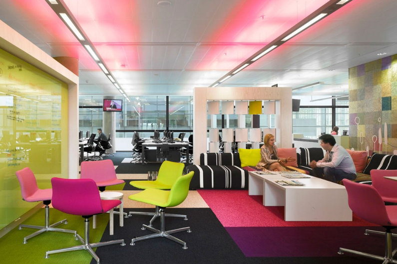 Bright Colored Office Furniture