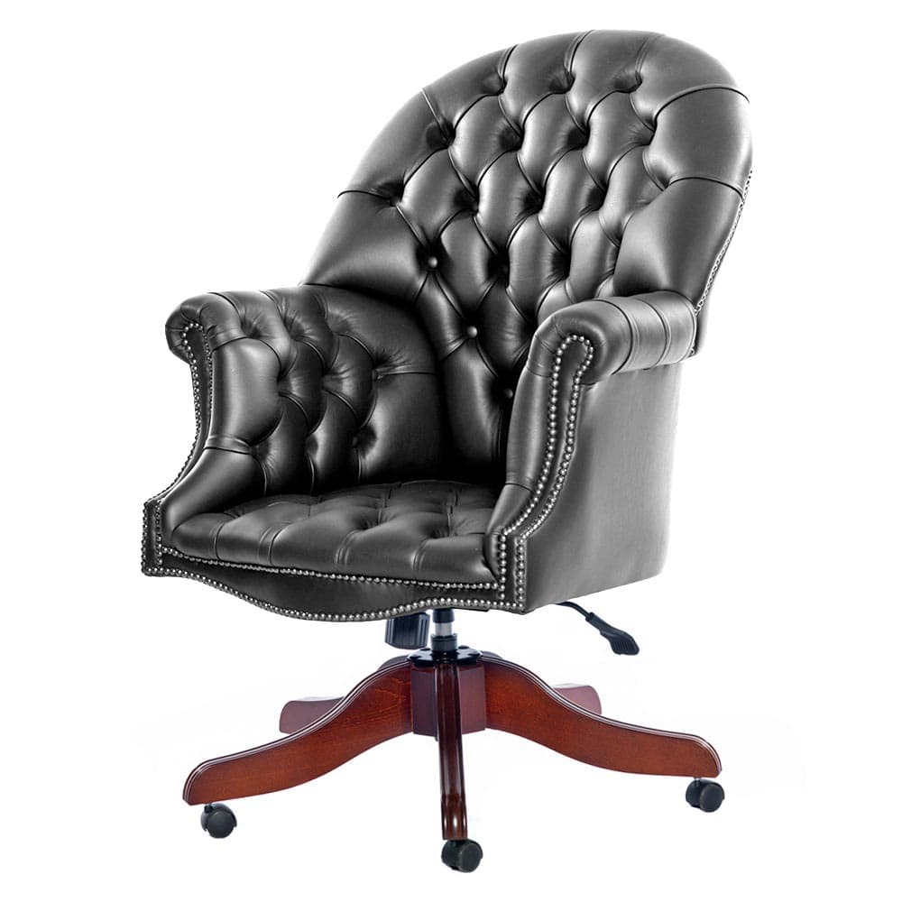 Directors Leather Chesterfield Office Chair