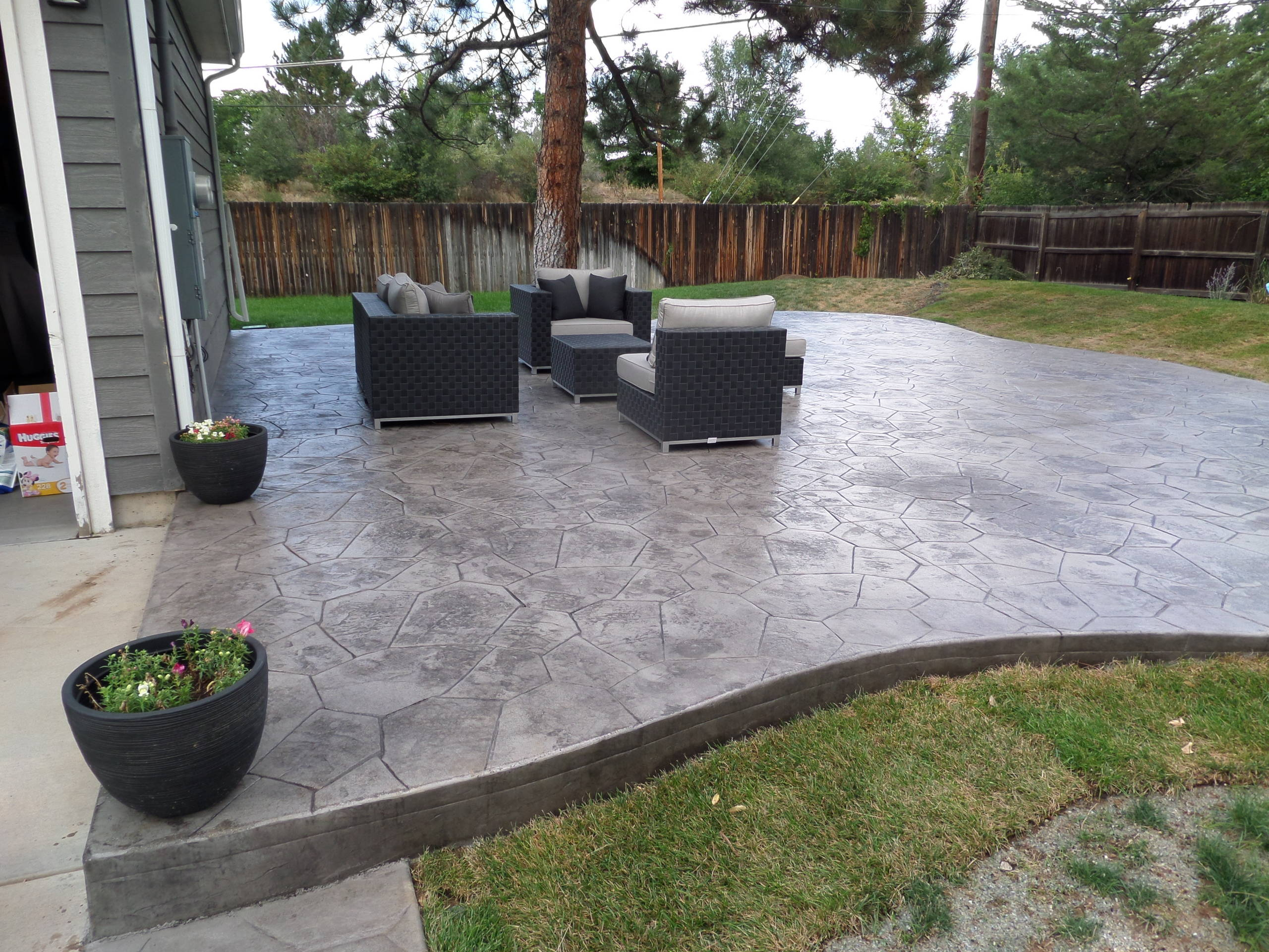 Beautiful Modern Stamped Concrete Ideas