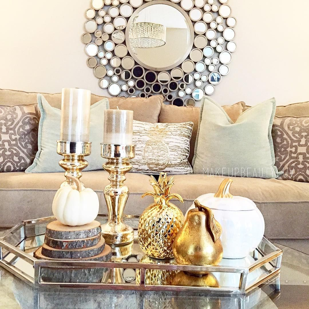 Gold And Silver Glam Living Room