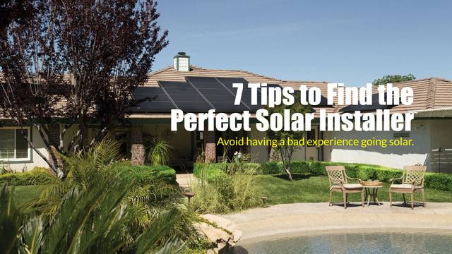 Tips To Find The Best Solar Panel Installation