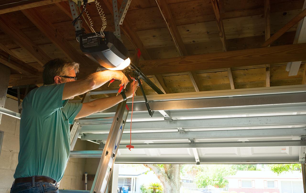 Automatic Garage Door Opener Repair Service Technician