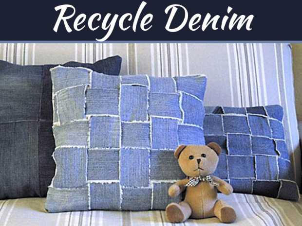 DIY - Recycle Denim Jeans to Make Home Decor Items