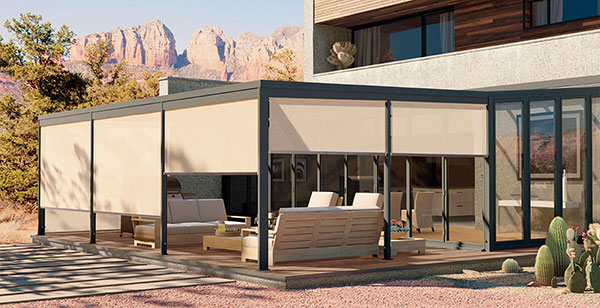 Electric Outdoor Blinds To Patios