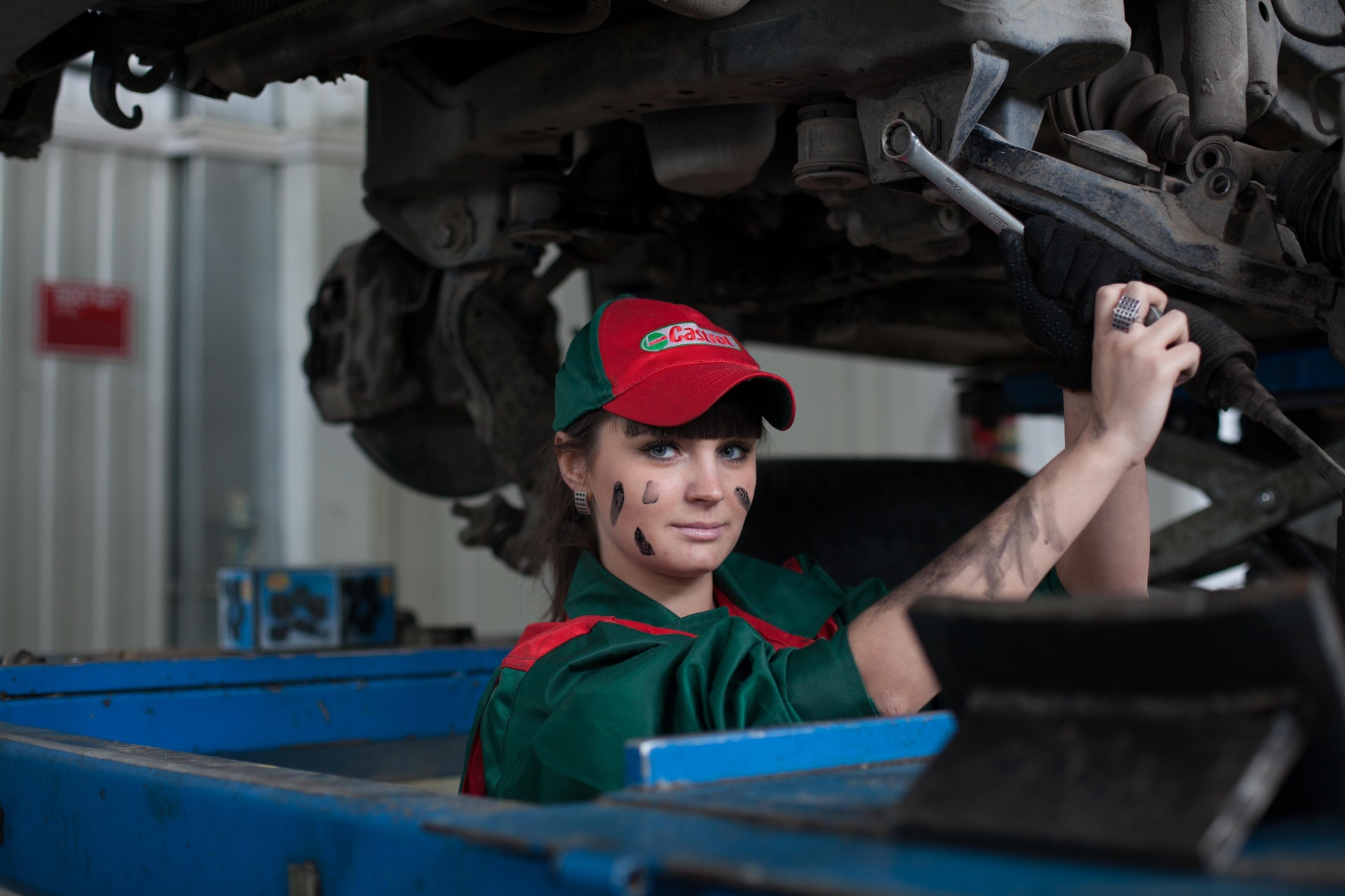 Female Car Mechanic