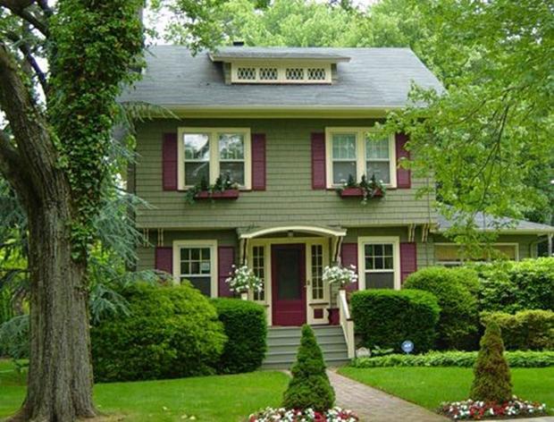 Fresh Green House Color Scheme