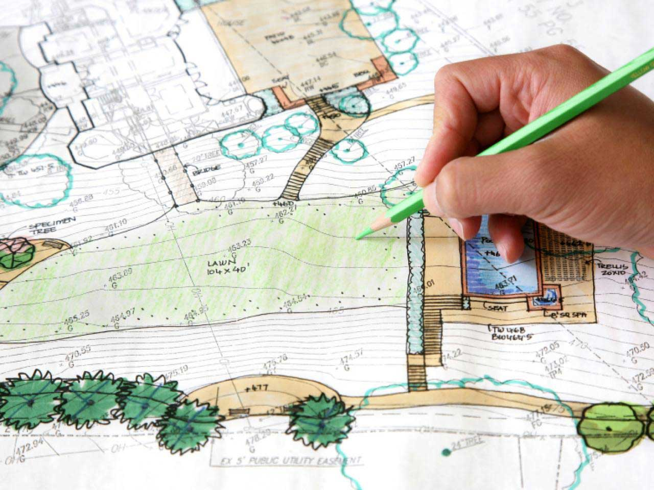 Landscaping Sketch Map