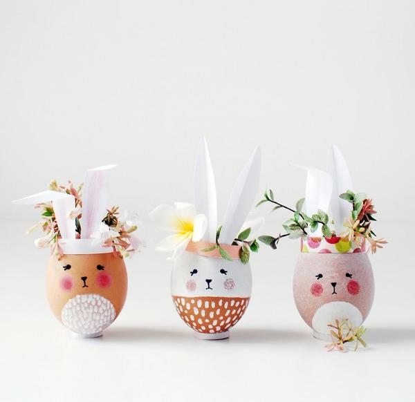 Egg-Shaped Flower Vessel