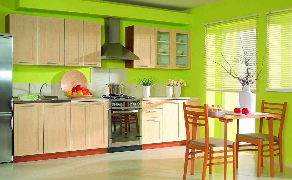 Minty Green Colored Kitchen Schemes