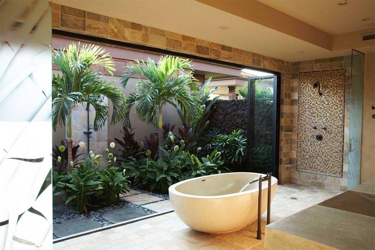 Peace Lilies Bathroom Plant