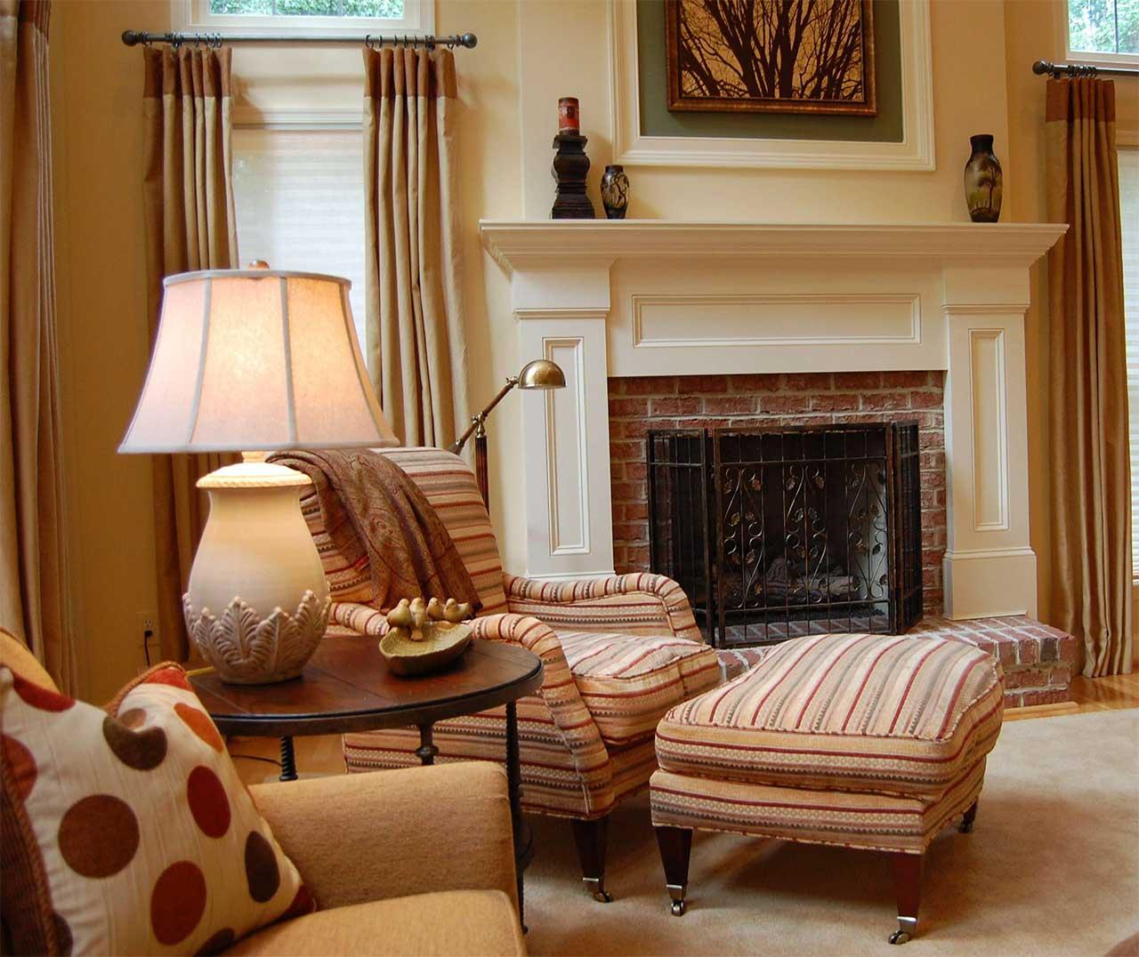 Brick Fireplace Mantel