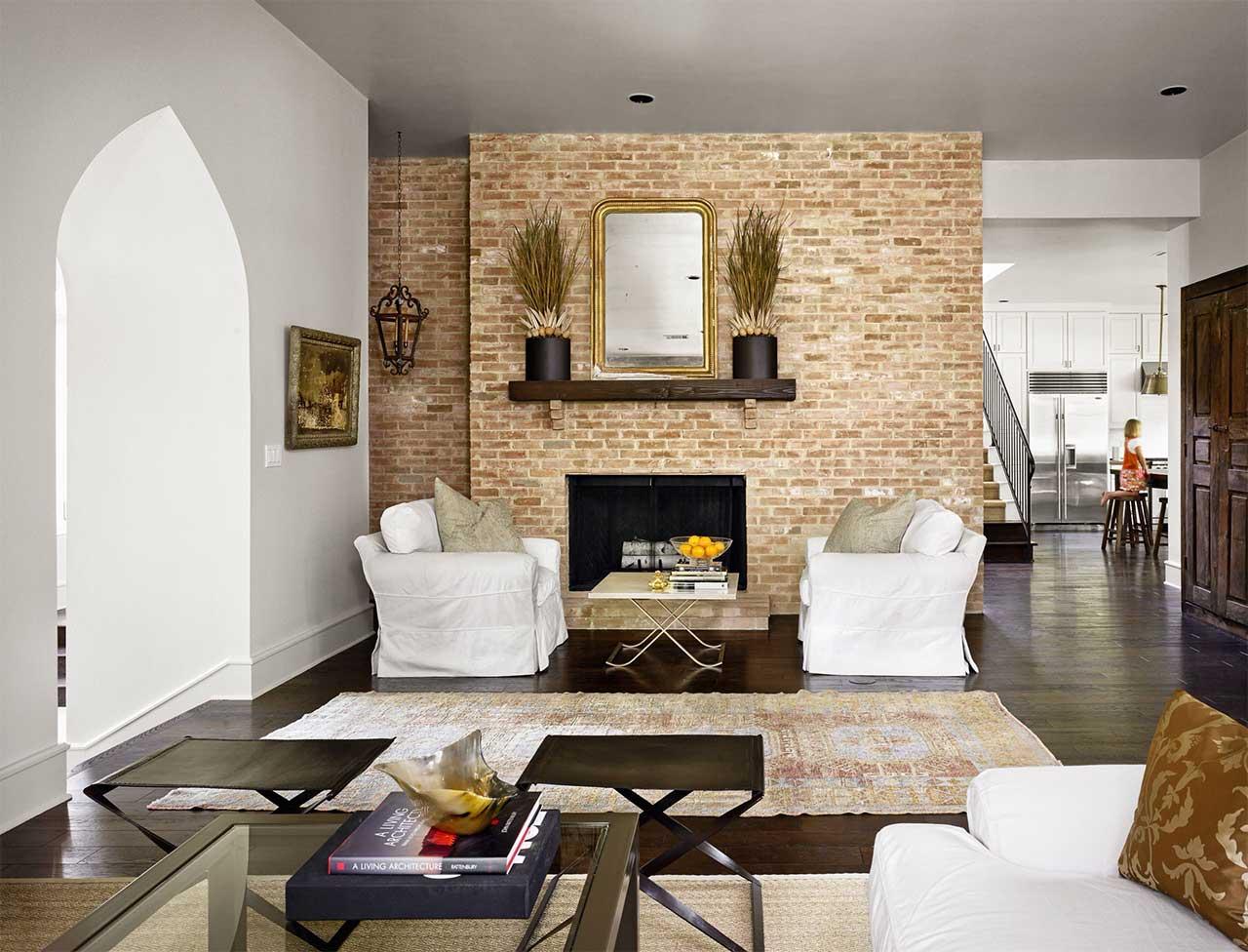 Exposed Bricks Fireplace